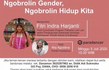 Online Talk FITRI NIA | Penggalangan Donasi dan Instagram Live Talk #3: Ngobrolin Gender, Ngobrolin Hidup Kita