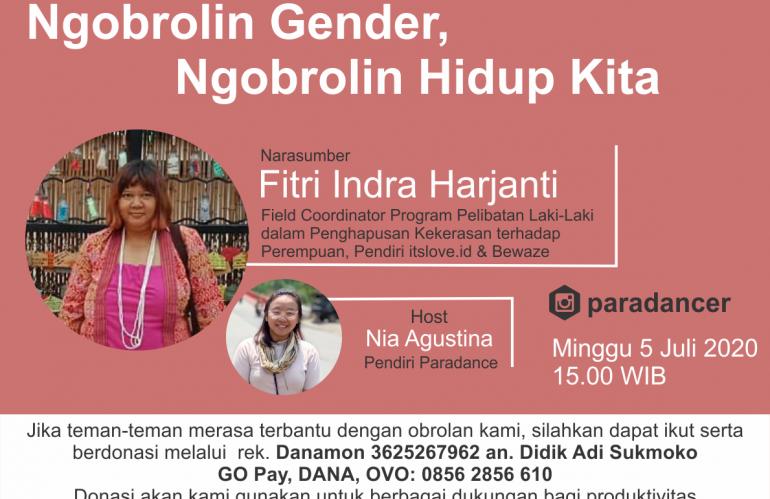 Penggalangan Donasi dan Instagram Live Talk #3: Ngobrolin Gender, Ngobrolin Hidup Kita
